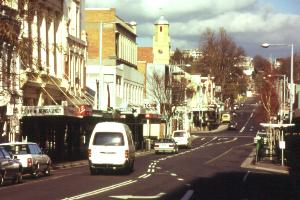 St John St Launceston Metro Central bus stops .jpg